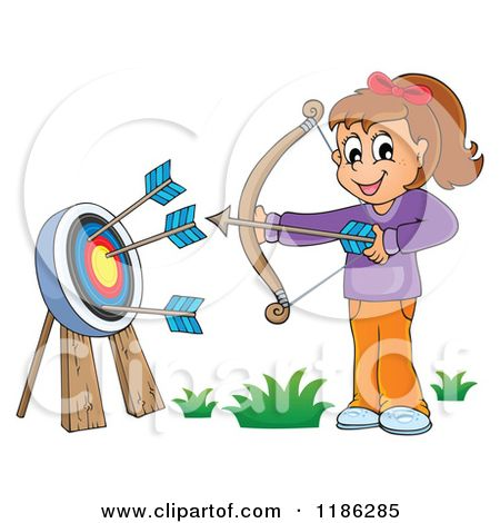 Cliparts girl free download. Archery clipart cartoon