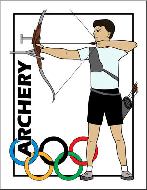 Archery clipart clip art. Phenomenal summer olympics event
