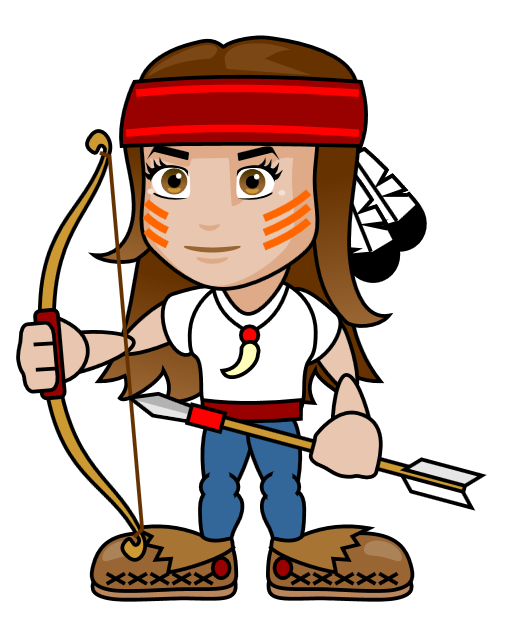 female clipart archery