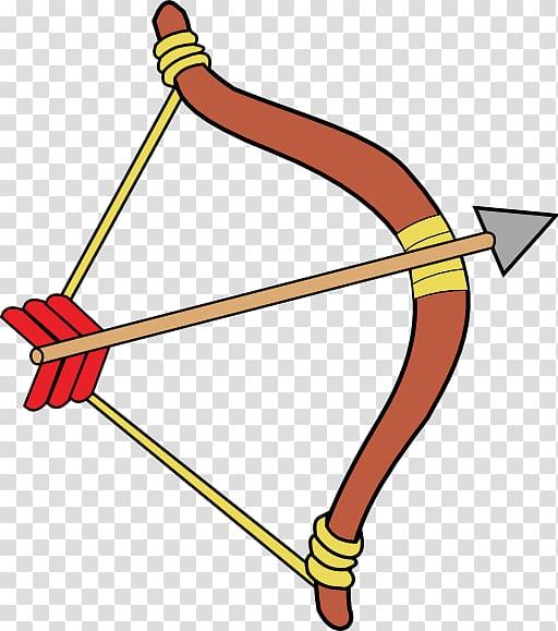 Bow and arrow girl. Archery clipart definition