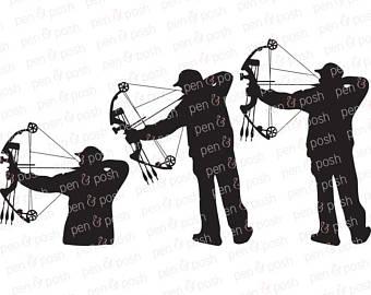 Bow clip art etsy. Archery clipart hunting
