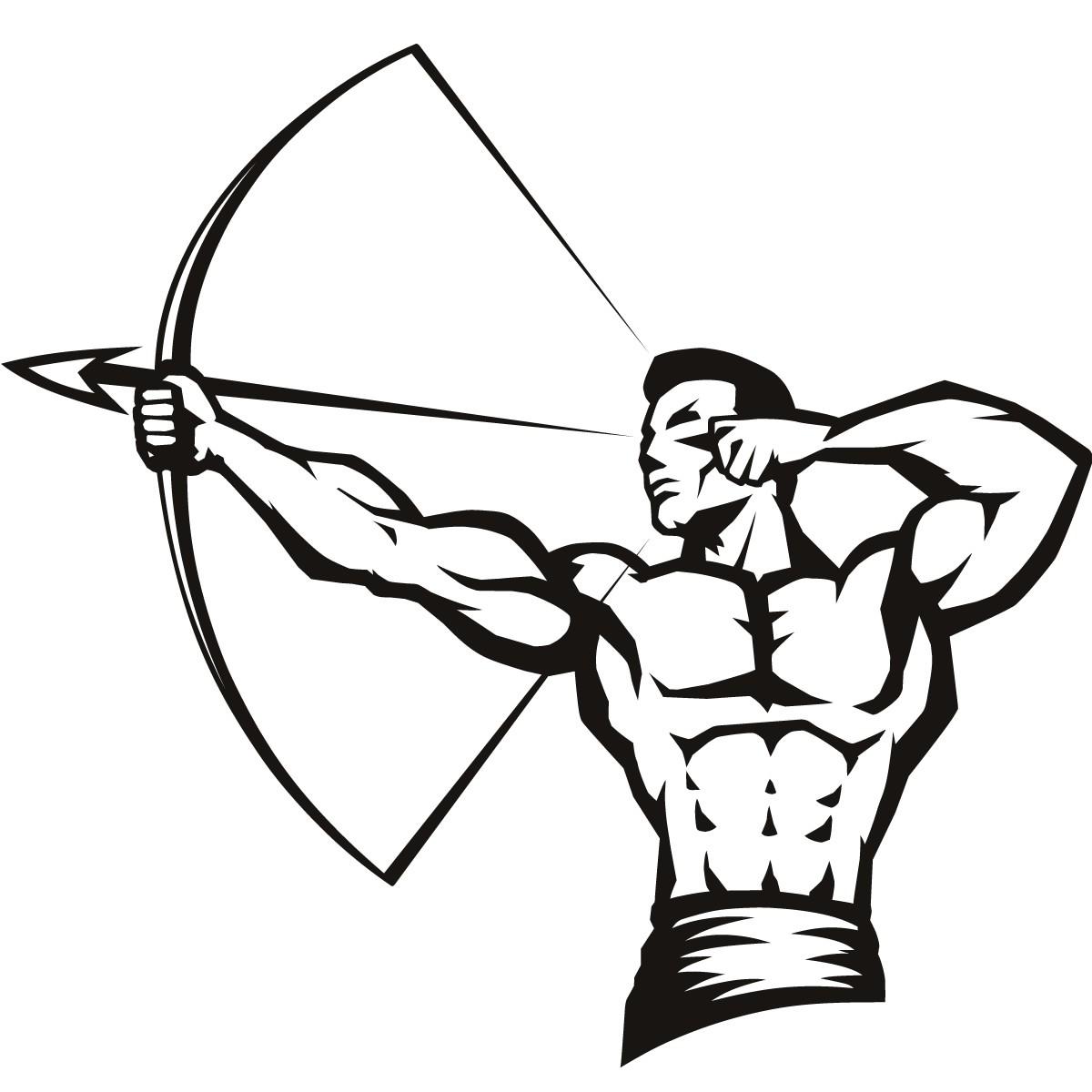 Archery clipart logo. Sports cad irononsticker com