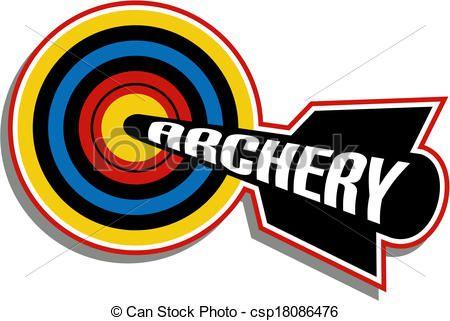 Archery clipart logo. Vector design stock illustration