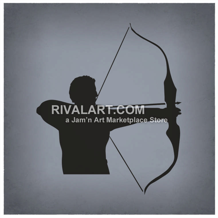 Of a shooting bow. Archery clipart man