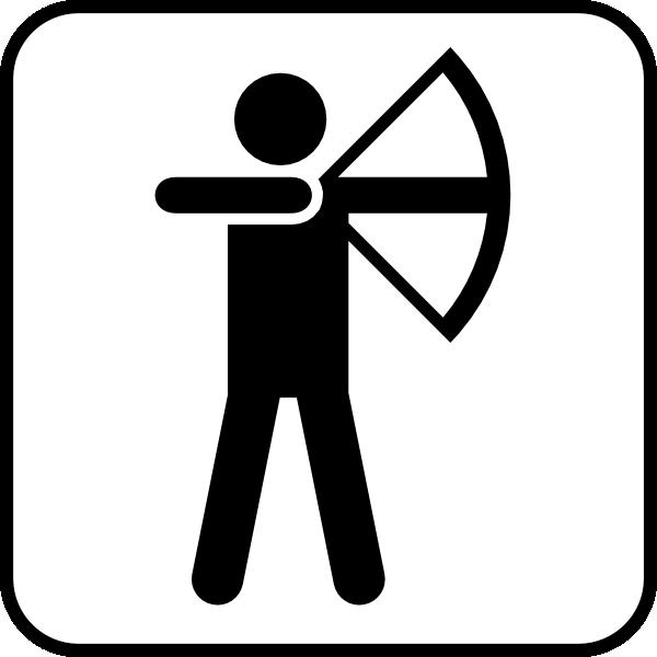 Archery clipart man. Bow arrow sports land
