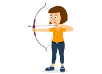 Sports free to download. Archery clipart man