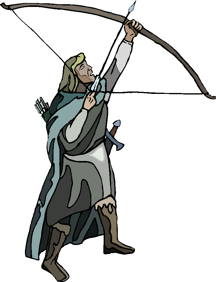 Archer . Archery clipart medieval archery