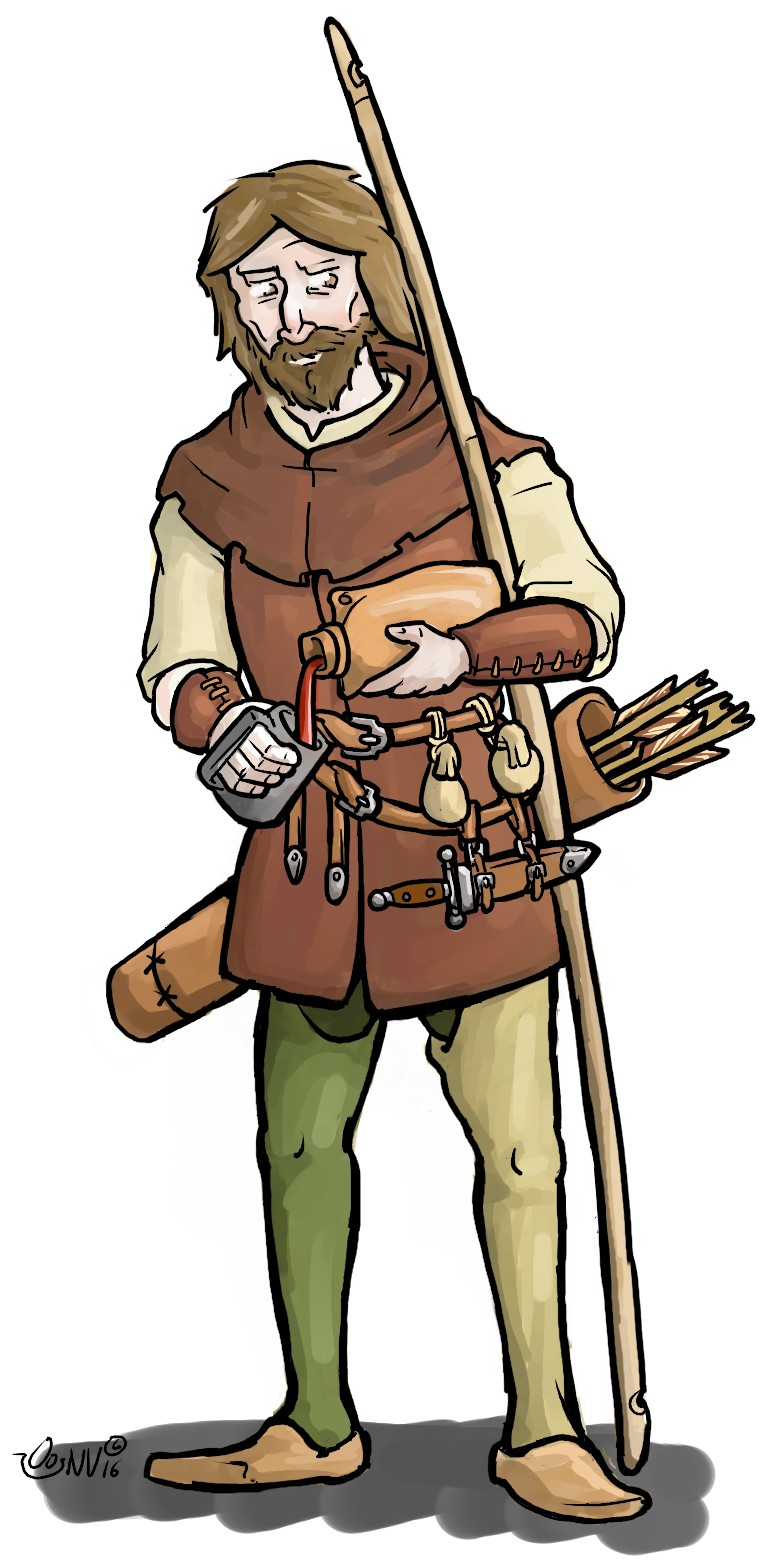 Archer drawing at getdrawings. Archery clipart medieval archery