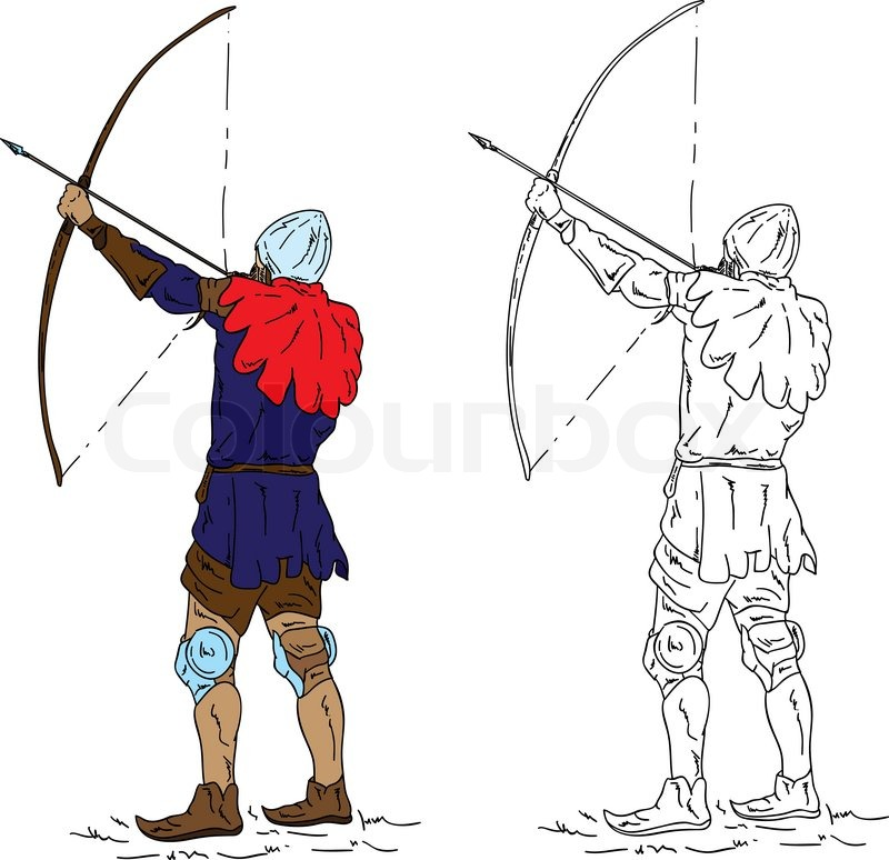 Archer drawing at getdrawings. Bows clipart medieval