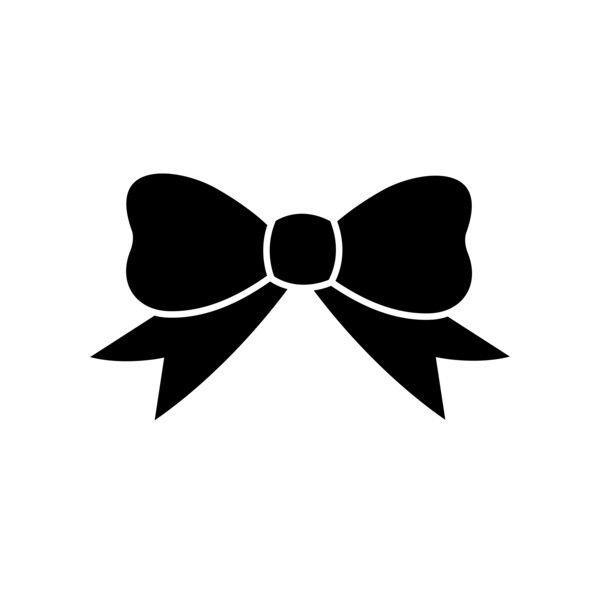 Black ribbon free clip. Bows clipart silhouette