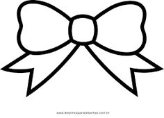Bow black and white. Bows clipart simple