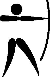 Archery clipart olympic archery. Sports pictogram clip art