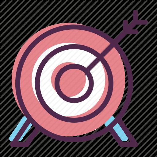 Arrow bullseye games goal. Archery clipart olympic archery