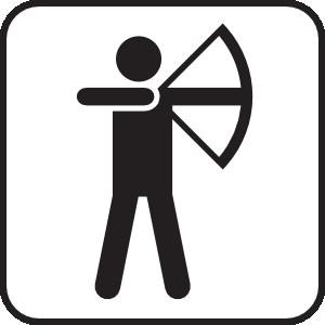 White clip art die. Archery clipart olympic archery
