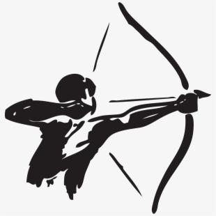 Svg black and white. Archery clipart olympic archery
