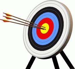 Phenomenal archery clip art. Bullseye clipart animated