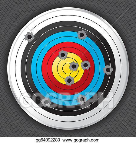 Vector gun target with. Archery clipart shooting range