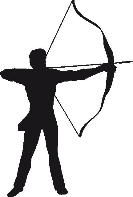 Archery clipart silhouette. Christian s room logo