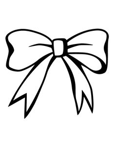 Bow line drawing at. Bows clipart color