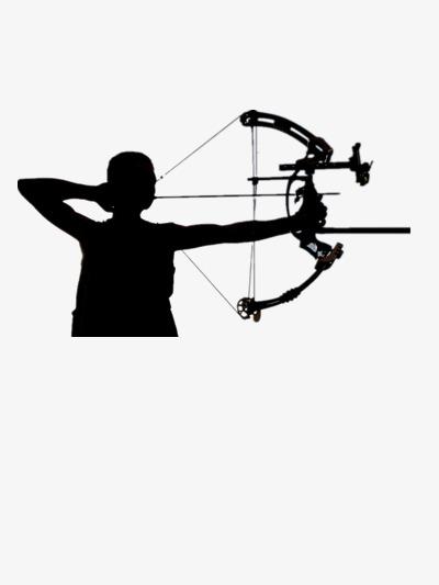 Slingshot shooting png image. Archery clipart sketch