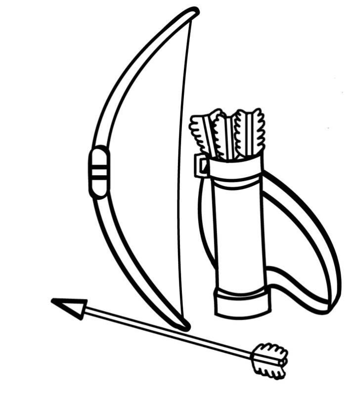Archery clipart sketch. Bow drawing at getdrawings