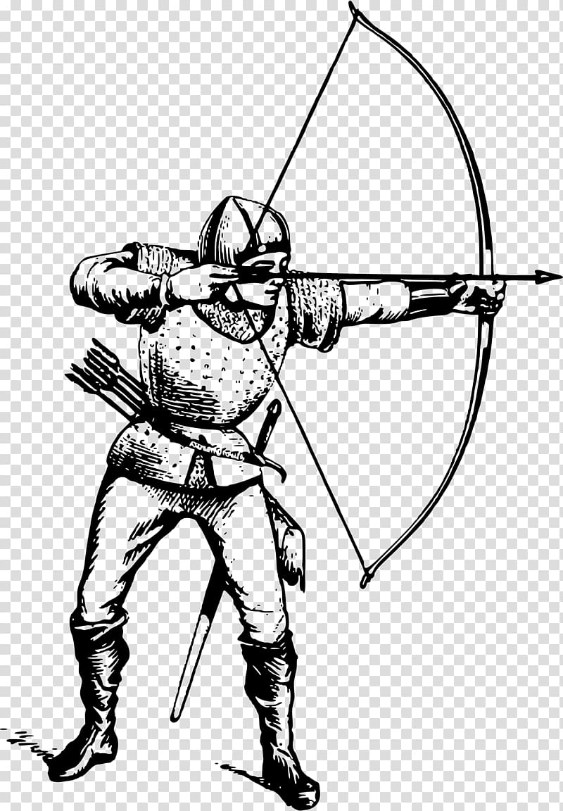 Archery clipart sketch. Middle ages bow and
