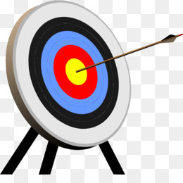 Target shooting arrow clip. Archery clipart sport