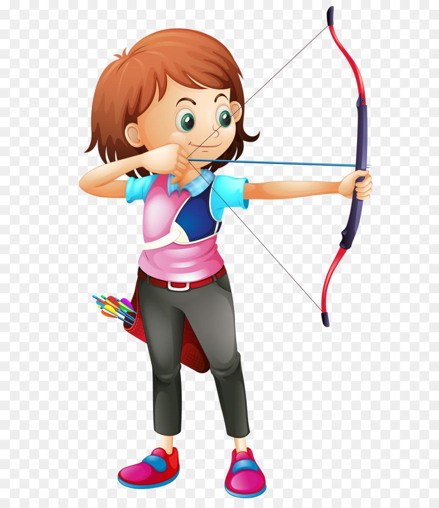 Child cartoon sports transparent. Archery clipart sport