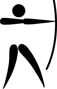 Archery clipart sport. Olympic sports pictogram clip