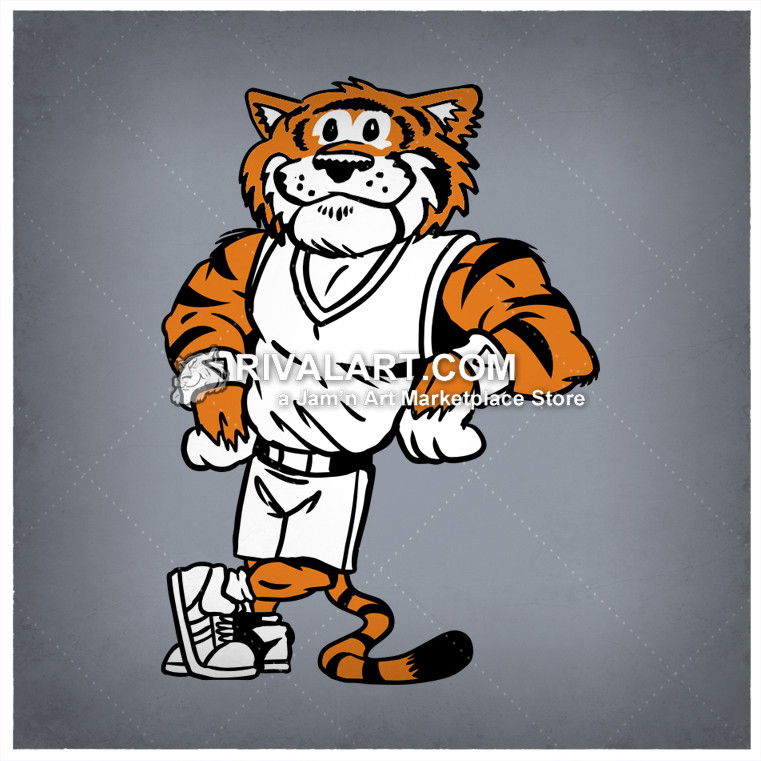 Mascot image leaning for. Archery clipart tiger