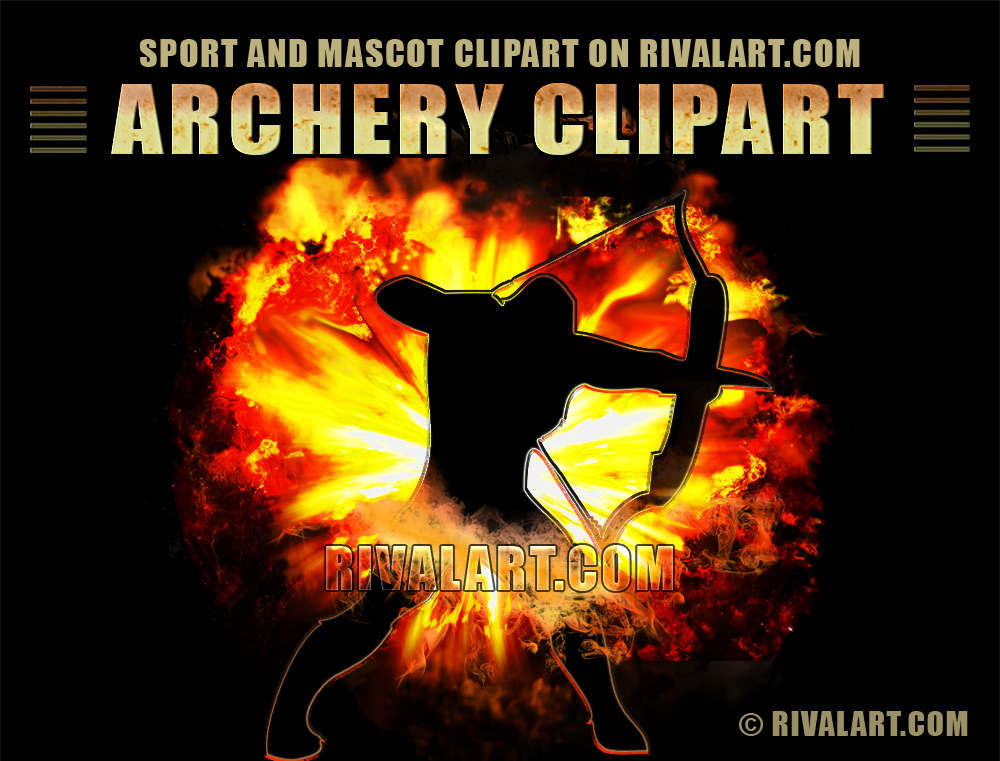 Archery clipart tiger. In vector and raster