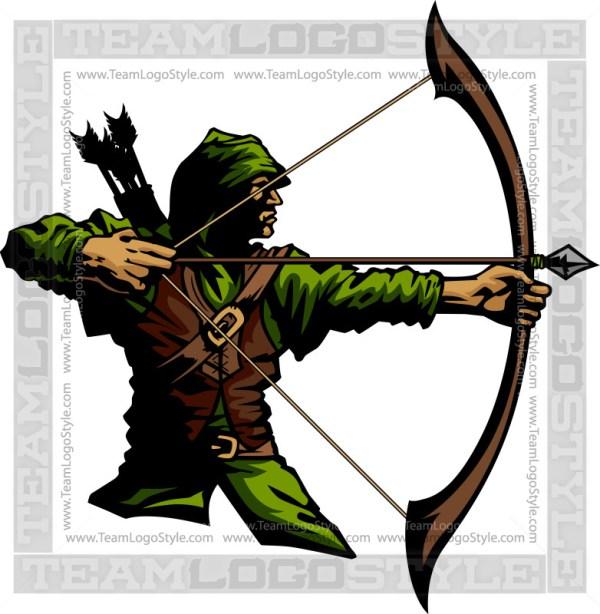 Archer clipart. Vector