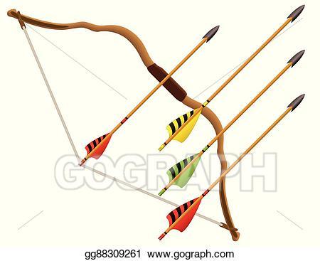 Archery clipart vector. Art bow and arrows