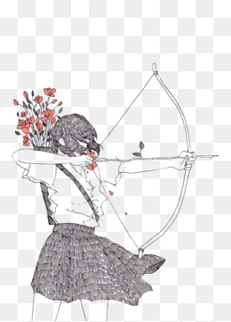 Png vectors psd and. Archery clipart vector