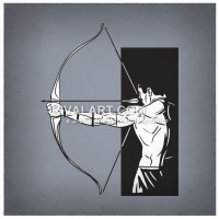 Archery clipart vector. In and raster formats