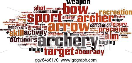 Eps vector cloud stock. Archery clipart word