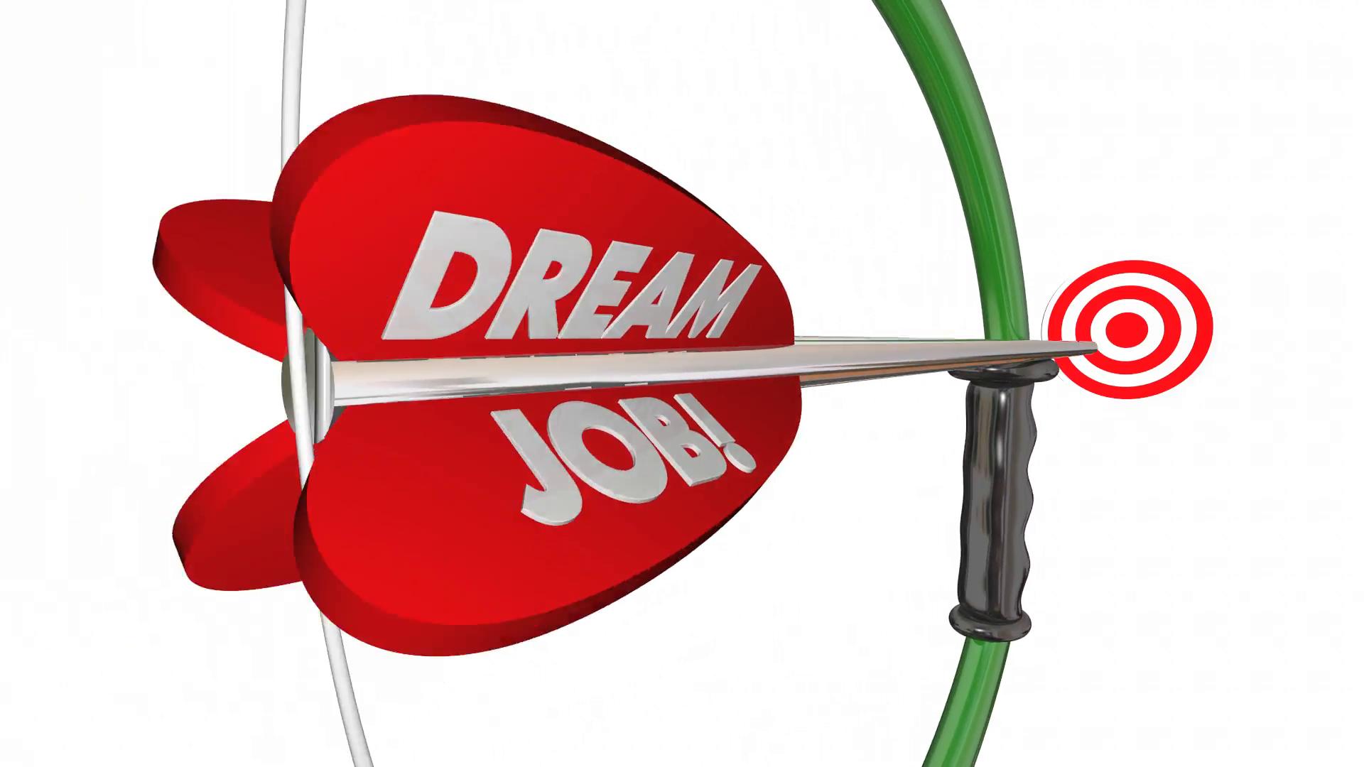Dream job bow arrow. Archery clipart word