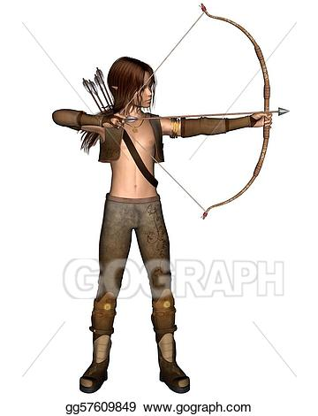 Archery clipart word. Stock illustration young elven