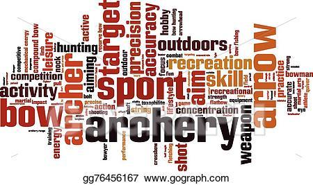 Archery clipart word. Eps vector cloud stock