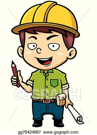 Vector illustration eps gg. Architect clipart
