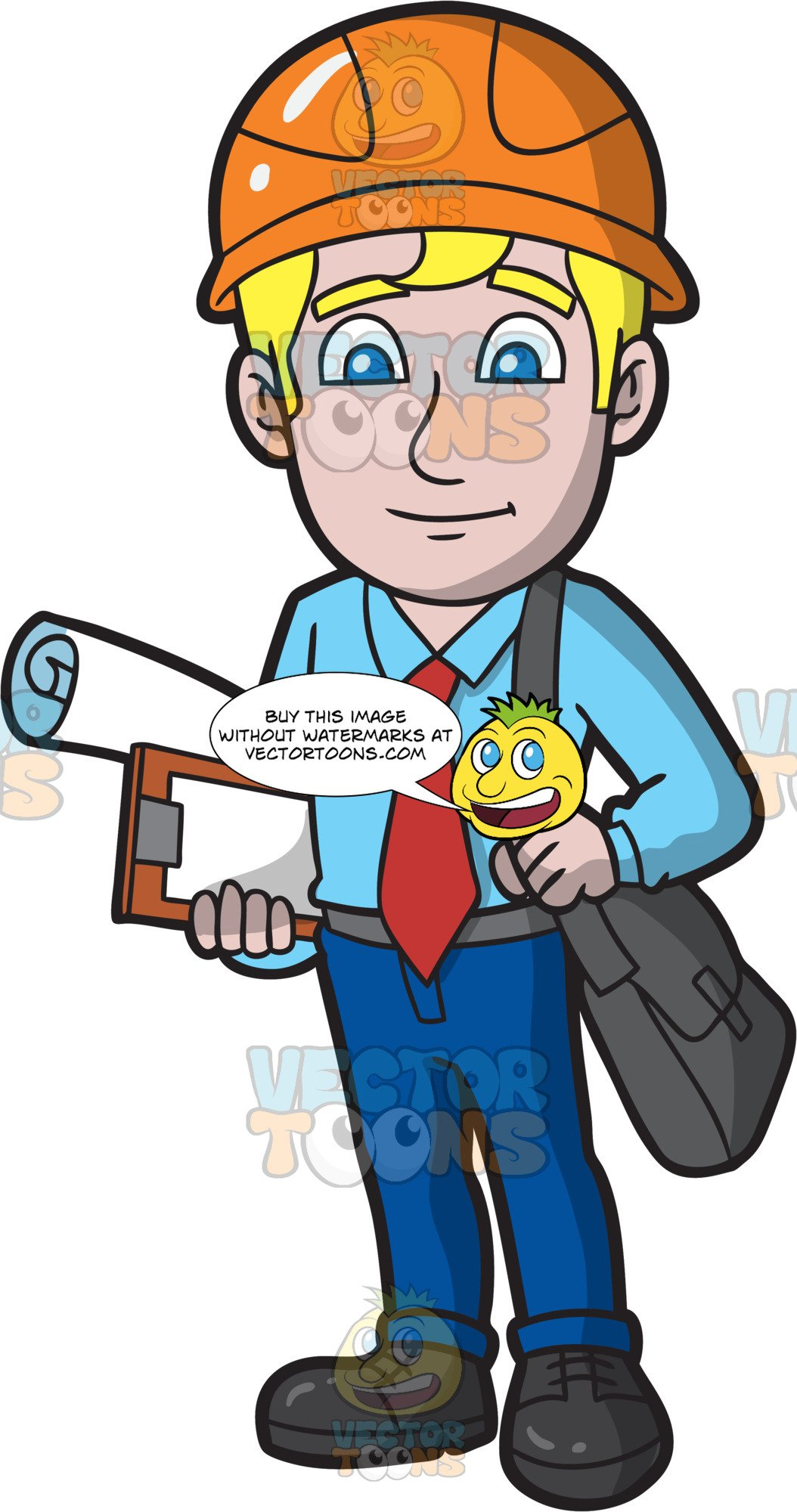 A nice male . Architect clipart