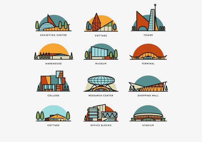 World famous architecture small. Architect clipart architect office