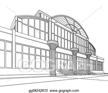 Stock illustration wireframe of. Architect clipart architect office