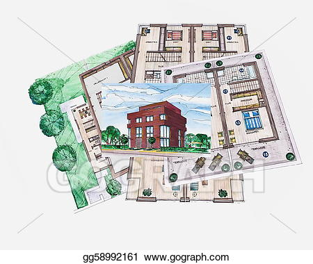 Stock illustration architecture building. Architect clipart architect office