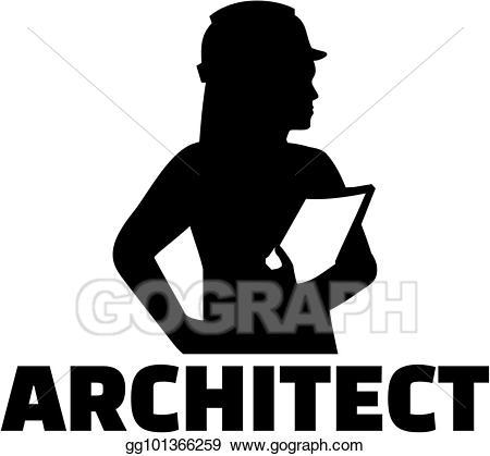 Vector art eps gg. Architect clipart architect woman