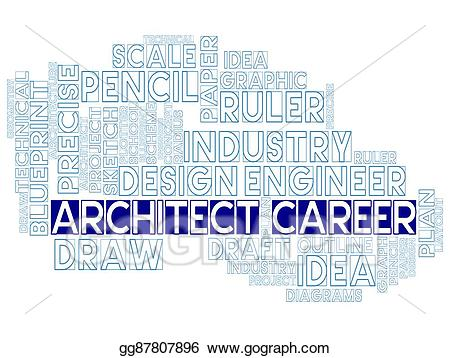 Architect clipart architecture. Stock illustrations career means