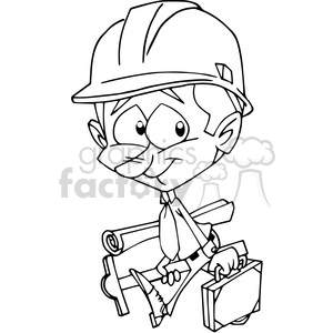 Architect clipart black and white. Clip art cartoon comical