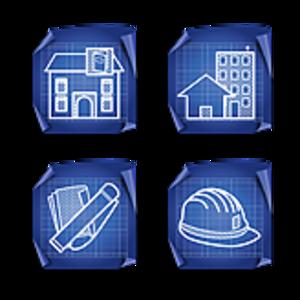 Architect clipart blueprint. Architecture icons set x