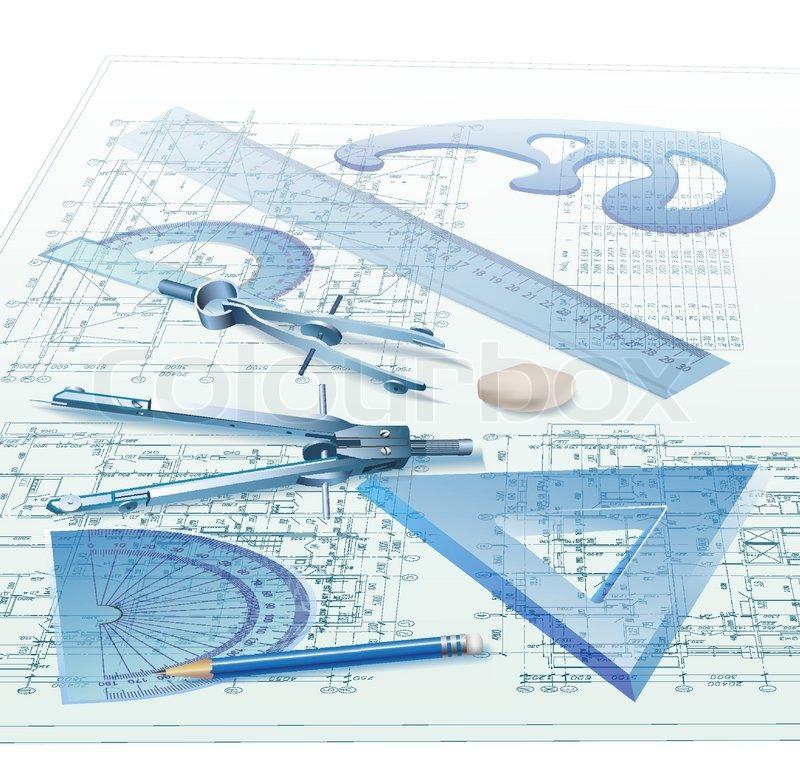 Architect clipart blueprint. Architecture technical drawing pencil