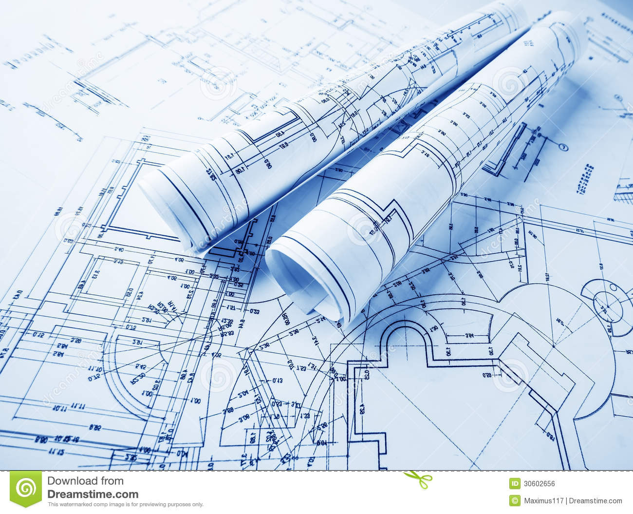 collection of rolls. Architect clipart blueprint
